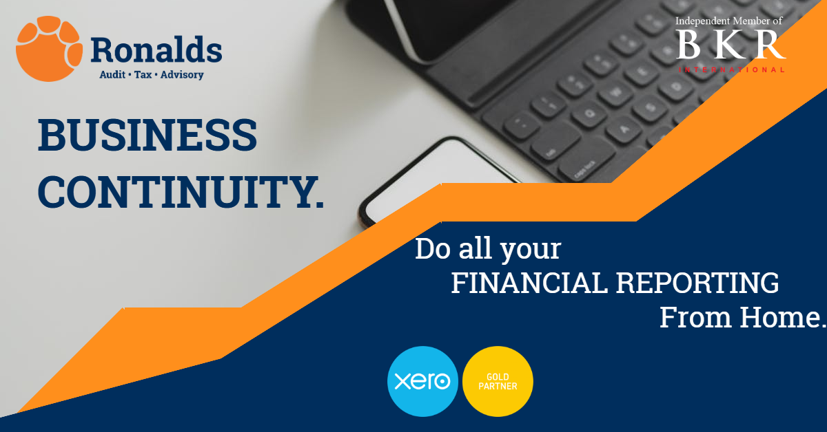 Ronalds LLP BUSINESS CONTINUITY IN FINANCIAL REPORTING