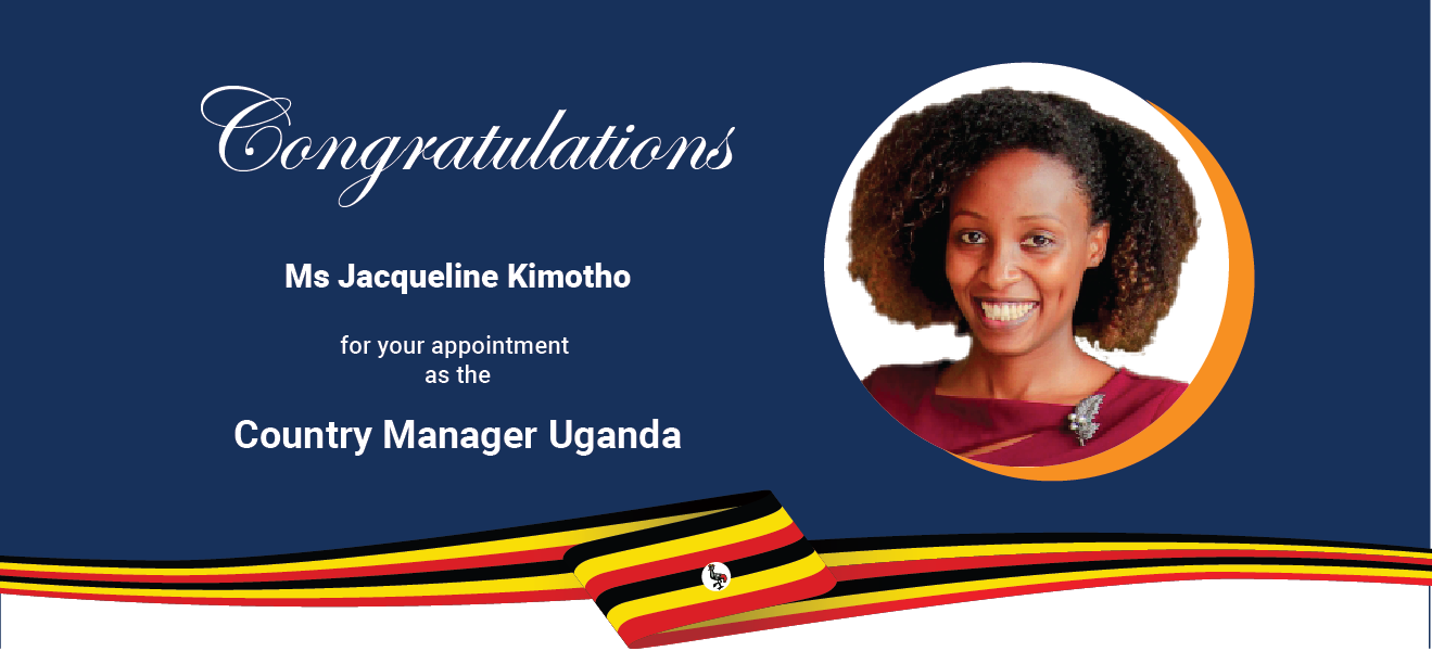 Our Uganda office gets  a new Country Manager